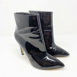 Express Black Patent Pointed Toe Boots